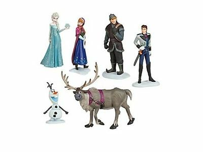 FROZEN FIGURE DECORAZIONE PER TORTE IDEA REGALO OLAF ELSA ANNA DISNEY SET 8 CM