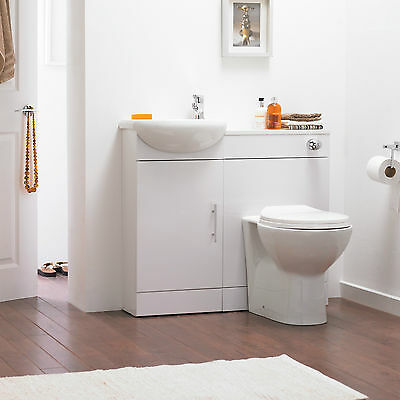 Premier SIE001 High Gloss White Sienna Cloakroom Pack