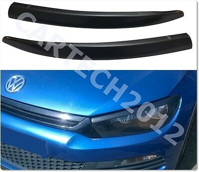 VW Scirocco 2008+ Headlights Eyebrows, ABS PLASTIC, TUNING