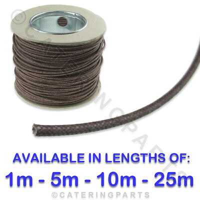 Various Lengths Brown 1.5Mm Heat Resistant Fibre Insulated Wire Cable 1,5,10,25M