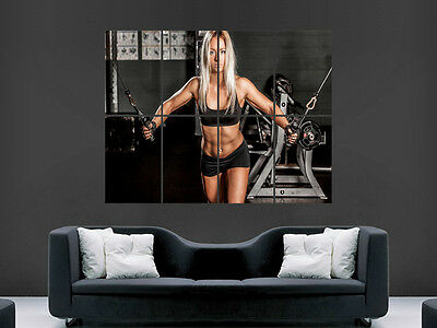 Sexy Girl Hot Weightlifting Gym Fitness Art Wall Large Image Giant Poster