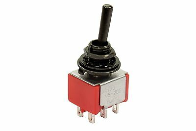 Mini Toggle Switch 2-way On-On Round Lever Black