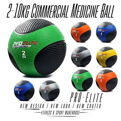 2Kg-10Kg Rubber Commercial Medicine Ball Workout Crossfit Bootcamp Fitness Tool