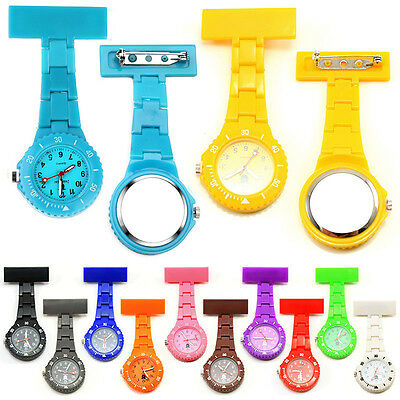 12 Color Style Nurse Watch With Pin Fob Brooch Pendant Hanging Pocket Watches