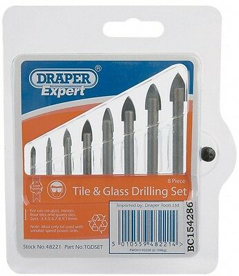 Draper Expert Ceramic Tile Drill Bit Set Mirror/Glass/Tiling Drilling Tool