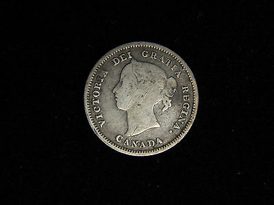 1890H Canada 5 Cent Silver - Queen Victoria Bust