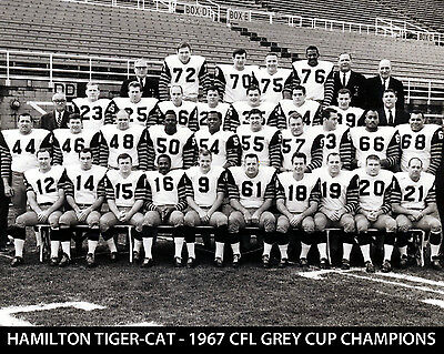 Hamilton Tiger-Cats - 1967 Grey Cup Champions, 8x10 B&W Team Photo