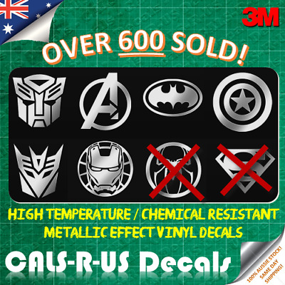 1 x Metallic JDM Car Decal 3M Vinyl Sticker - Batman Spiderman Autobot Superman