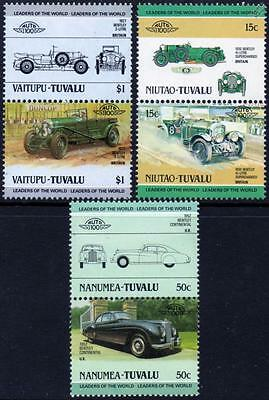 BENTLEY Collection of 6 Car Stamps (Auto 100 / Leaders of the World)