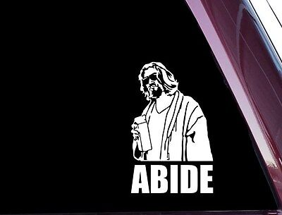 The Big Lebowski - Abide (Cream) - Die Cut Vinyl Decal / Sticker  A-76