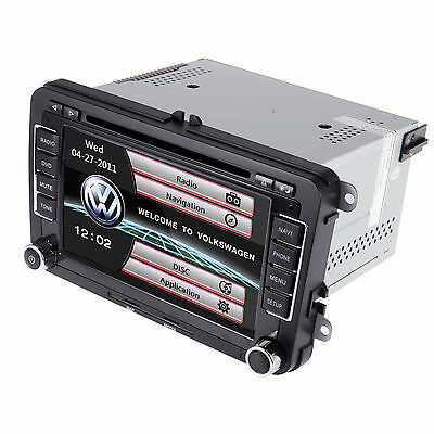 """Double 2 DIN 7"""" Car DVD Stereo Player Bluetooth Touch GPS ARM MAP for Volkswagen"""