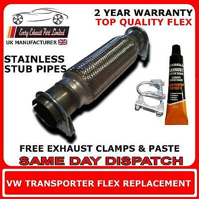 VW Transporter T5 2.5TDi 2006 Onward Exhaust Replacement Flex Flexi, Front Pipe