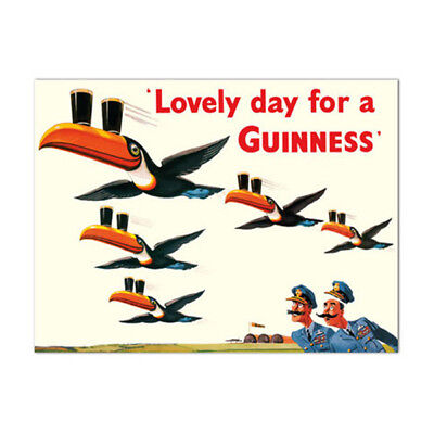 Lovely Day for a Guinness Beer Metal Sign WWII Flying Toucans Bar Decor 17 x 11