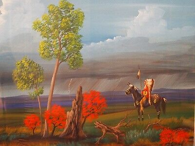 JEFF YELLOWHAIR ORIGINAL PAINTING / NATIVE AMERICAN