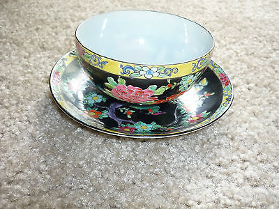 Gorgeous Vintage Hand Painted Seiei Cup & Saucer/japan/1930's-1960's