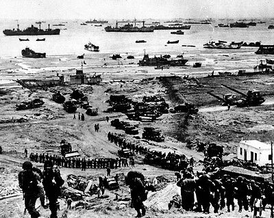 New 8x10 World War II Photo: Build-up of Omaha Beach after Normandy, D-Day