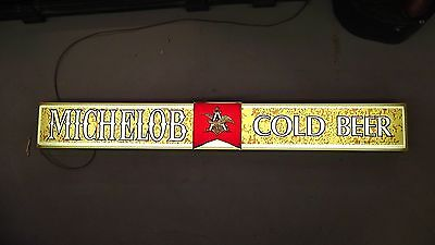 "Michelob ""Cold Beer"" Lighted Sign 70's"