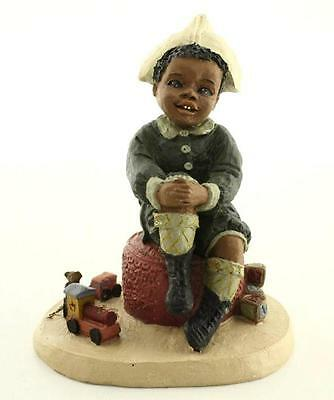 1989 All Gods Children JOHN Resin NOS Black Figurine Martha Holcombe 1514 Train