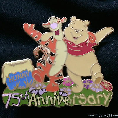 Disney Auctions TIGGER & POOH 75th Anniversary Honey Pot LE 100 Pin Winnie the