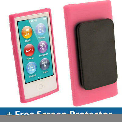 Pink TPU Clip Gel Case for New Apple iPod Nano 7th Generation 7G Cover Shell