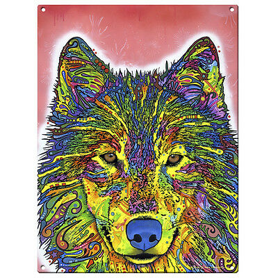 Wolf Dean Russo Pop Art Metal Sign Wild Steel Wall Decor 12 x 16