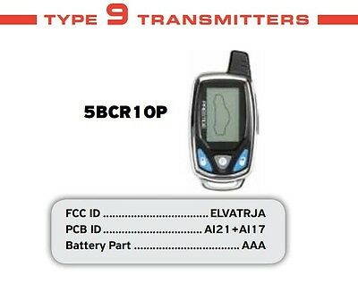 Prestige 2 Way LCD Car Replacement Remote 5BCR10P 5BCR1OP CAR ALARM REPLACEMENT