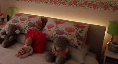 Warm White LED Headboard Light Set In 5 Sizes With Remote Control Option