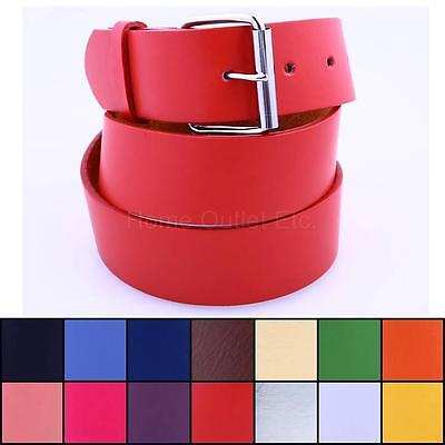 "1"" Kids Plain Leather Belt Solid Unisex Sports Team Golf Baseball School Uniform"