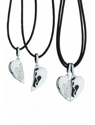 ROBERTO GIANNOTTI Angels Double Necklace Him&Her Silver 925% Hearts GIA125 DD