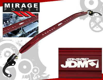 JDM 2002-2006 ACURA RSX BASE FRONT UPPER STRUT BAR RED ANODIZED ALUMINUM