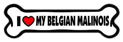 GIANT SIZE!!! Dog Bone Magnets: I Love My Belgian Malinois | Cars, Trucks