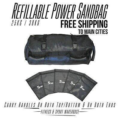 New Crossfit Power Sand Bag  Fitness Strength Training Weight Refillable Fitness