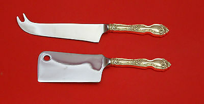 La Reine by Wallace Sterling Silver Cheese Server Serving Set 2pc HHWS  Custom