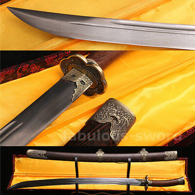 "38"" FOLDED STEEL BLADE SHARP FULL TANG BLADE CHINESE QING SWORD(清刀)"