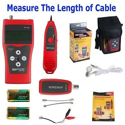 Network Ethernet LAN Phone Tester Multipurpose Cable Wire Tracker Length Scanner