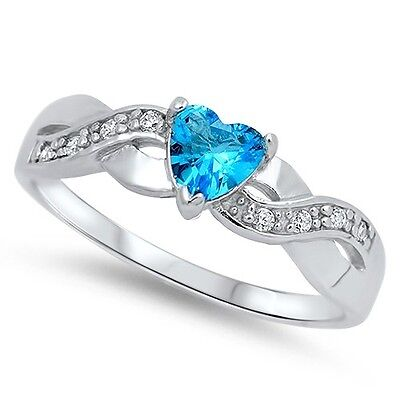 Sterling Silver 925 WHITE LAB OPAL W// INFINITY CZ ENGAGEMENT RING 8MM SIZES 4-12