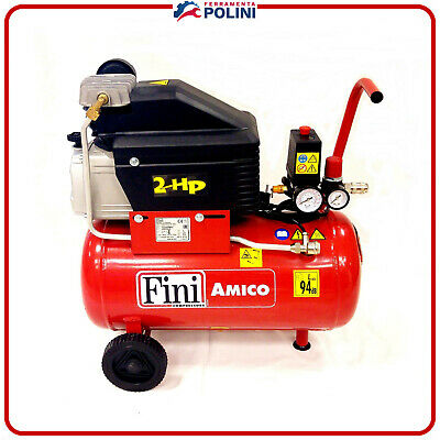 COMPRESSORE ARIA FINI AMICO 25/2400 NEW  Lt.25  HP2 BAR 8 ORIGINALE FINI