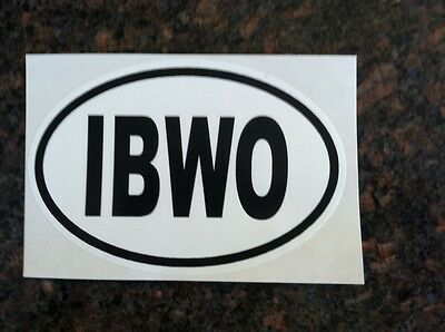 IBWO Oval sticker (Ivory-billed woodpecker)