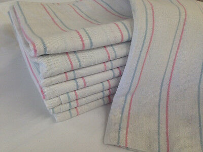 3 STRIPED BABY RECEIVING SWADDLING HOSPITAL BLANKETS LARGE 36x36 THICK FLANNEL