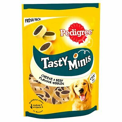 Pedigree Tasty Bites Chewy Cubes Crunchy Pocket Dog Treats Cheese Chicken Beef