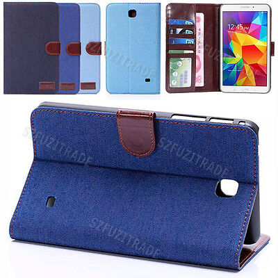 """Fashion Stand Card Holder Leather Case Cover For Samsung Galaxy Tab 7"""" T230 7-in"""