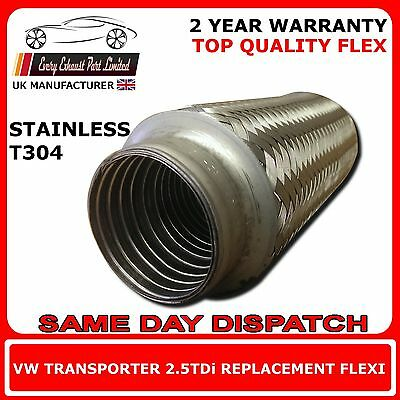 VW Transporter T5 2.5TDi 2003-2009 Exhaust Replacement Flex Flexi For Cat Pipe