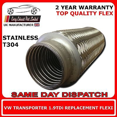 VW Transporter T5 1.9TDi 2003 Onward Exhaust Replacement Flex Flexi For Cat Pipe
