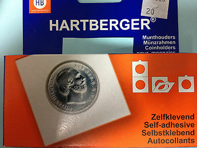 New Original Hartberger Coin Holder SELF ADHESIVE Free Selectable All Sizes