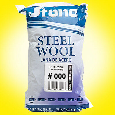 12pc Steel Wool Hand Pads # 000 - Extra Fine - SAME DAY SHIPPING
