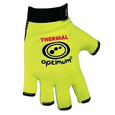 New Optimum 'STIK MITTS' Fingerless Thermal FLUO Yellow Optimum Rugby Gloves