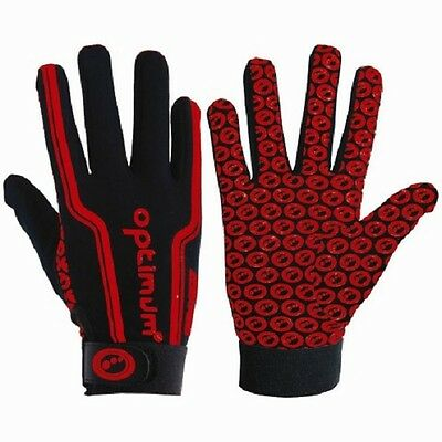 New Optimum 'Velocity' Full Finger Black 2 Color Optimum Stik Mitt Rugby Gloves