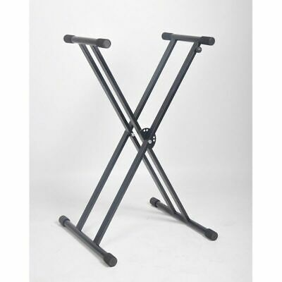 Heavy duty Professional Double Braced Keyboard Stand Holds 60Kg One hand adjust