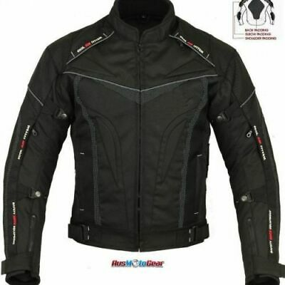 Motorcycle/Motorbike/Scooter Textile Cordura Jacket Waterproof- 5 PCE CE ARMOUR