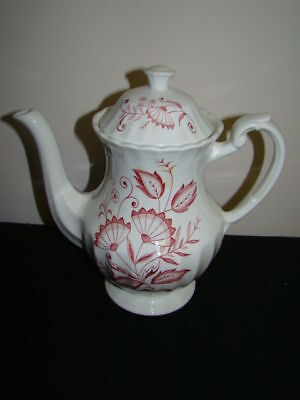 J G MEAKIN LEGATO RED COFFEE POT & LID EXCELLENT